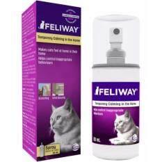 Feliway Spray 60 ml (แบบสเปรย์) ฟีโรโมนแมว  ให้แมวรู้สึกสบาย ลดภาวะเครียด (EXP: 03/2020) +ส่งฟรี KERRY+