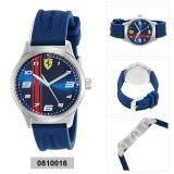 ราคา Ferrari Watch Pitlane Blue Stainless Steel Case Silicone Strap Mens 0810016 ราคาถูกที่สุด