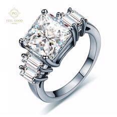 โปรโมชั่น Fgshopstore แหวนเงินแท้ S925 ประดับเพชรสวิส Cz รุ่น Fg S787 Size 08 Feel Good Jewelry