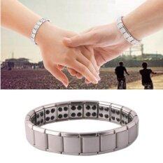 ขาย Floweralight สร้อยข้อมือแม่เหล็กไทเทเนียม เจอร์เมเนียมเพื่อสุขภาพ Germanium Titanium Steel Bracelet 316L รุ่น Swxs206 Unbranded Generic ใน กรุงเทพมหานคร