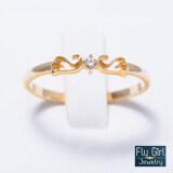 ซื้อ Fly G*rl Jewelry แหวนเพชรCz เงินแท้ชุบทองแท้ ถูก