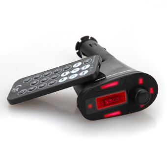 เครื่องส่งเอฟเอ็ม MP3 Lkw Pkw วิทยุในรถเล่นอัตโนมัติสีแดง