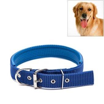 Foam Cotton Polyester Pet Collars Pet Neck Strap Dog Neckband Cats Dogs Collars 3cm X 47cm (Blue) - intl