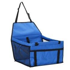 ส่วนลด สินค้า พับสัตว์เลี้ยงสุนัขแมวคาร์ซีท Safe Carrier สุนัข สีฟ้า