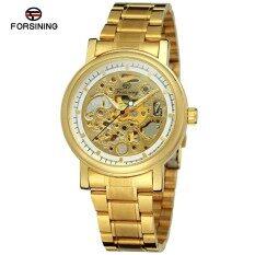 ราคา Forsining 2350 82 Top Luxury Brand Men S Watches Mechanical Skeleton Stainless Steel Male Business Dress Wristwatch No Battery Watch Clock Intl Forsining เป็นต้นฉบับ