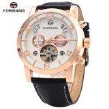 ขาย Forsining A165 Men Tourbillon Automatic Mechanical Watch Leather Strap Date Week Month Year Display Intl ออนไลน์ ใน Thailand