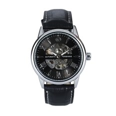 Forsining Unique Hollow Engraving Skeleton Wristwatch Silver Intl Forsining ถูก ใน จีน