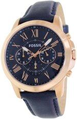 ซื้อ Fossil Grant Navy Blue Watch Leather Strap Fs4835 Navy Blue