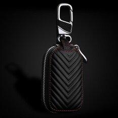 โฟร์ซีซั่นบิ๊กขายหนังพวงกุญแจกุญแจรถพวงกุญแจที่ใส่กุญแจกระเป๋าสะพายสีเบจสีดำกระเป๋าสตางค์กระเป๋าสี: ดำ - นานาชาติ.