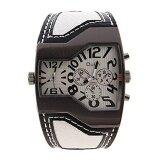 ขาย ซื้อ โฟร์ซีซั่นขายใหญ่ Qulm แบรนด์ชั้นนำสีขาวหนังเทียมหนังเย็นพิเศษหมุนคู่ Movt เย็นของขวัญนาฬิกาข้อมือสำหรับผู้ชายผู้ใหญ่สามี นานาชาติ