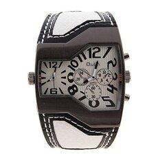 ซื้อ โฟร์ซีซั่นขายใหญ่ Qulm แบรนด์ชั้นนำสีขาวหนังเทียมหนังเย็นพิเศษหมุนคู่ Movt เย็นของขวัญนาฬิกาข้อมือสำหรับผู้ชายผู้ใหญ่สามี นานาชาติ ใหม่ล่าสุด