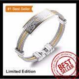 ราคา Fullustyle สร้อยข้อมือสแตนเลส สายรัดข้อมือแฟชั่น ลายCross Gold Silver เหมาะกับผู้ชาย Made In Korea ยาว 19 5Cm ออนไลน์
