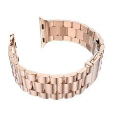 ขาย Gaktai For Space Black Apple Watch Stainless Steel Link Bracelet Strap Band 38Mm Rose Gold Intl ถูก จีน