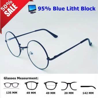 แว่นกรองแสงสีฟ้าสำหรับเด็กราคาถูก ทรงกลมสีดำ สำหรับคนใช้มือถือและคอม Gaming Glasses ถนอมสายตาพร้อมเลนส์พิเศษตัดแสงฟ้า 95% พร้อมกันรังสี UV ลดพิเศษ 50%