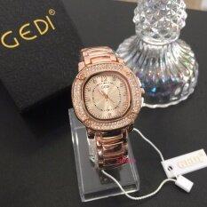 ราคา Gedi Pink นาฬิกาหญิง ทรงเหลี่ยม ออนไลน์ กรุงเทพมหานคร
