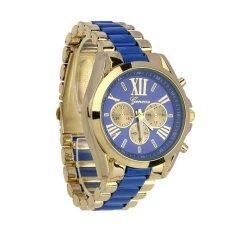 ราคา Geneva Classic Luxury Men Stainless Steel Quartz Analog Wrist Watch Fashion Blue Intl เป็นต้นฉบับ Geneva
