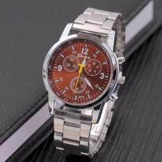 ขาย ซื้อ Genevaนาฬิกาผู้ชาย นาฬิกาลำลอง นาฬิกาแฟชั่น นาฬิกาข้อมือสุภาพบุรุษ สายสแตนเลสG 003 น้ำตาล ใน กรุงเทพมหานคร