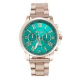 ซื้อ Geneva Watch นาฬิกาข้อมือแฟชั่น ลำลอง ผู้ชาย หน้าปัด Green สีเขียว สายเหล็กสีทอง รุ่น Wm0049 ไทย