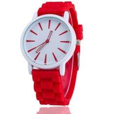 ราคา Thaitrendy Geneva Watches นาฬิกาข้อมือแฟชั่น สายยาง สีแดง เป็นต้นฉบับ