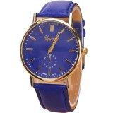 ราคา Geneva Women Watch นาฬิกาข้อมือผู้หญิง Pu Leather Strap Blue ราคาถูกที่สุด