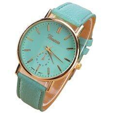 ขาย Geneva Women Watch นาฬิกาข้อมือผู้หญิง Pu Leather Strap Green Geneva ผู้ค้าส่ง
