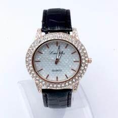 ทบทวน Geneva Women Watch นาฬิกาข้อมือผู้หญิง Pu Leather Strapc Black Geneva