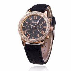 ราคา Geneva Women Watch นาฬิกาข้อมือผู้หญิง สายหนัง รุ่น Watch Gp 006Black เป็นต้นฉบับ Geneva