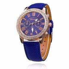 ขาย Geneva Women Watch นาฬิกาข้อมือผู้หญิง สายหนัง รุ่น Watch Gp 006Blue ออนไลน์