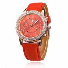 ราคา Geneva Women Watch นาฬิกาข้อมือผู้หญิง สายหนัง รุ่น Watch Gp 006Orange ใหม่