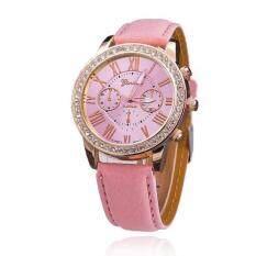 ส่วนลด สินค้า Geneva Women Watch นาฬิกาข้อมือผู้หญิง สายหนัง รุ่น Watch Gp 006Pink
