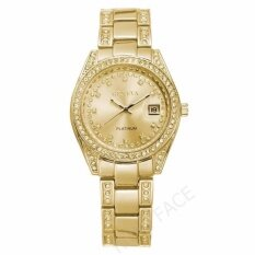 Geneva นาฬิกาข้อมือผู้หญิง มีวันที่ รุ่น Wp8521 Gold แถมซองนาฬิกาสุดหรู เป็นต้นฉบับ
