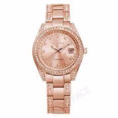 ซื้อ Geneva นาฬิกาข้อมือผู้หญิง มีวันที่ รุ่น Wp8521 Pink Gold แถมซองนาฬิกาสุดหรู ถูก
