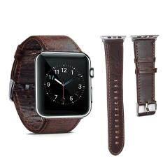 ราคา Genuine Leather 42Mm Replacement Band With Secure Metal Clasp Buckle For Apple Watch Sport Edition Intl เป็นต้นฉบับ