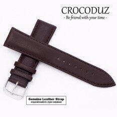 ราคา สายนาฬิกาหนังวัว Genuine Leather Strap Minimal Style ขนาด 20 Mm สำหรับ Rolex Seiko Omega Crocoduz Leather เป็นต้นฉบับ