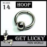 ขาย ตุ้มหูผุ้ชาย Get Lucky จิวหู Hoop E4009 1Ea ต่างหูผู้ชาย Men Earring ผู้ค้าส่ง