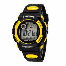 ทบทวน Getek นาฬิกาข้อมือไซคนกีฬาผลึกคล้ายคลึงสุขาแบบ S ทหารกันน้ำ สีเหลือง