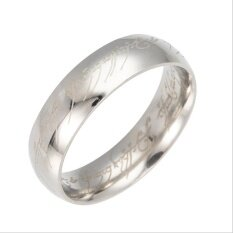 ทบทวน ที่สุด Gg The Lord Of The Rings Titanium Men S Ring Rings Male Lovers Ring Intl