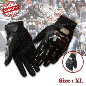 Gion -ProBiker ถุงมือมอเตอร์ไซค์ ถุงมือเต็มนิ้ว รุ่นทัชสกรีน ไซส์ XL (สีดำ)