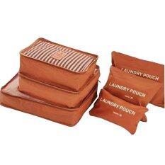 ขาย Gjp กระเป๋าจัดระเบียบการเดินทางเซ็ต 6 ชิ้น Orange ราคาถูกที่สุด