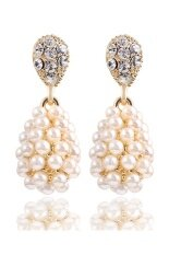 ขาย Gold Plated Alloy Simulated Pearl Long Drop Earrings Beige Unbranded Generic ผู้ค้าส่ง