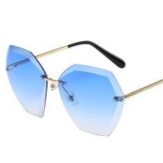 แว่นตากันแดด Goldenfashionie ผู้หญิงฤดูร้อนวินเทจ Retro สแควร์แว่นตาสีไล่ระดับสี Unisex แฟชั่น Avi By Goldenfashionie.