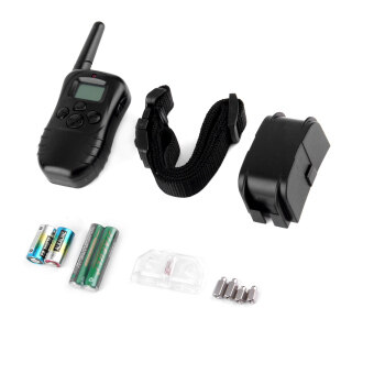 GOOD Waterproof 300M 100LV LCD Remote Dog Pet Training Collar Shock Vibrate - intl