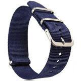 ราคา Gracefulvara Men Women Nylon Sport Wrist Watchband Strap Blue 18Mm ราคาถูกที่สุด