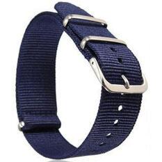 โปรโมชั่น Gracefulvara Men Women Nylon Sport Wrist Watchband Strap Blue 18Mm ถูก