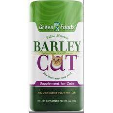 Green Foods Barley Cat Grass หญ้าบาร์เล่ย์แมว ชนิดผง  เสริมระบบย่อย ดูดซึม ไฟเบอร์สูง Detox ลำไส้  ป้องกัน Hairball ลดกลิ่นอึกลิ่นฉี่  กลิ่นปาก บำรุงขนแมว (85 กรัม) EXP: 01/2021