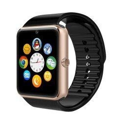 Gt08 Full Touch Control Smart Watch Remote Phone Pedometer Call Reminder Bluetooth3 With Sim Card Slot Intl ถูก