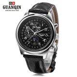 ราคา Guanqin Gq20022 Male Auto Mechanical Watch Moon Phase Complete Calendar Men Wristwatch Intl จีน
