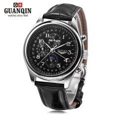ขาย Guanqin Gq20022 Male Auto Mechanical Watch Moon Phase Complete Calendar Men Wristwatch Intl ถูก จีน