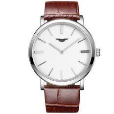 ซื้อ Guanqin Gs19029Fs Men S Ultra Thin Quartz Watch Brown ถูก