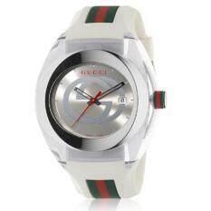 ทบทวน Gucci Sync Xxl Ya137102 Watch Quartz Silver Dial Date Rubber